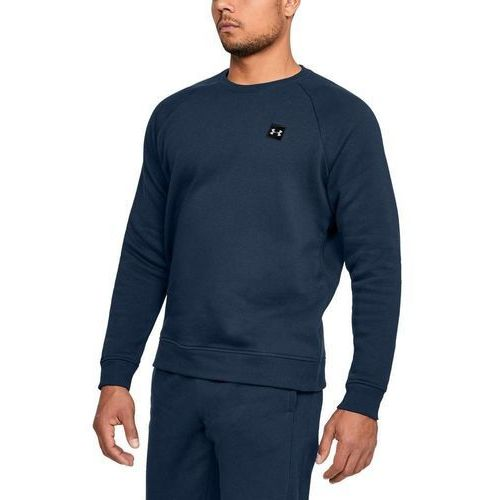 bluza bez kaptura rival fleece crew granatowa - granatowy marki Under armour