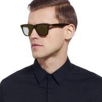 Okulary przeciwsłoneczne męskie polaryzacyjne brąz - brązowy