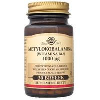 SOLGAR Metylokobalamina (WitB12) 100mcg bryłki x 30 sztuk