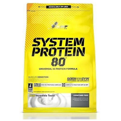 Olimp  system protein 80 - 700g - strawberry (5901330038488)