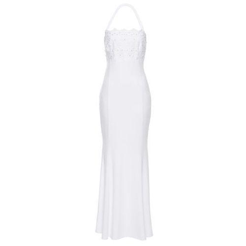 Sukienka ślubna z koronką biały Bonprix