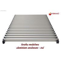 Kratka modułowa - 25/100  do grzejników vk15, aluminium anodowane o profilu zamkniętym marki Verano