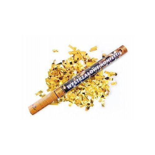 Tuba strzelająca - konfetti i serpentyny metaliczne złote - 60 cm - 1 szt. marki Ap