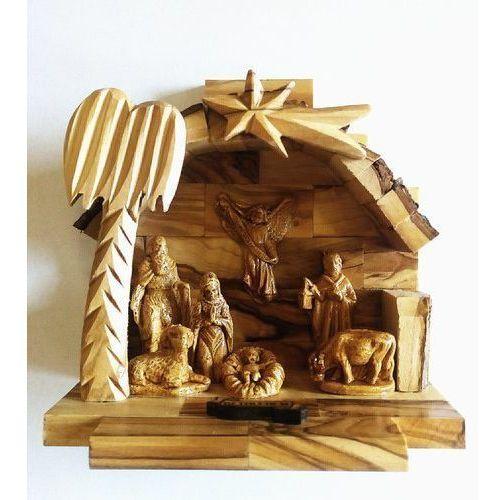 Szopka Betlejemska drewniana z figurkami