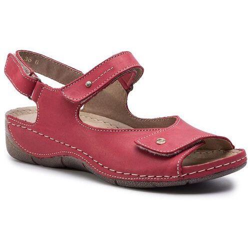 Sandały - 266 czerwony, Helios, 36-38