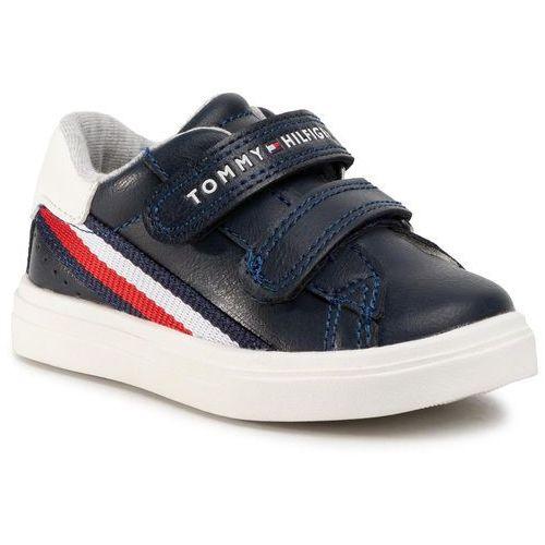 Tommy hilfiger Sneakersy - low cut velcro sneaker t1b4-30699-0621 blue/white x007