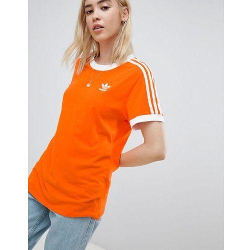 0ccd5f9e4 Adidas Originals 3 Stripe Ringer T-Shirt In Orange - Orange - Foto Adidas  Originals