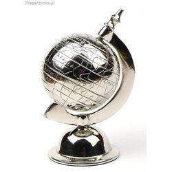 Metalowy srebrzysty globus