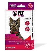 Petprotect - obroża odstraszająca insekty dla kota kolor: czerwony 30cm
