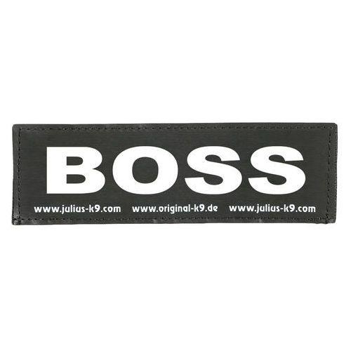 """Naszywka Julius K-9 """"BOSS"""", 2 szt. - Duża, wymiary, dł. x szer.: 16 x 5 cm (5999053647414)"""