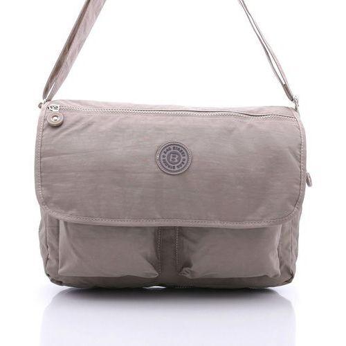e208f5394f8a2 Beżowa uniwersalna torba listonoszka na ramię - beżowy marki Bag street -  zdjęcie Beżowa uniwersalna torba