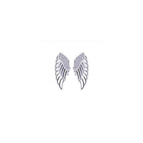 Kolczyki skrzydła anioła z cyrkoniami Durango
