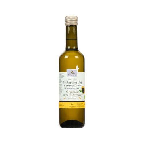 125a1e7b76ae17 E 500ml ekologiczny olej słonecznikowy tłoczony na zimno bio marki Bio  planet - fotografia produktu