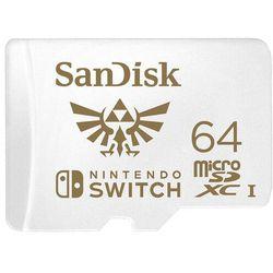 SANDISK NINTENDO SWITCH microSDXC 64GB V30 UHS-I U3 - SDSQXAT-064G-GNCZN- Zamów do 16:00, wysyłka kurierem tego samego dnia!