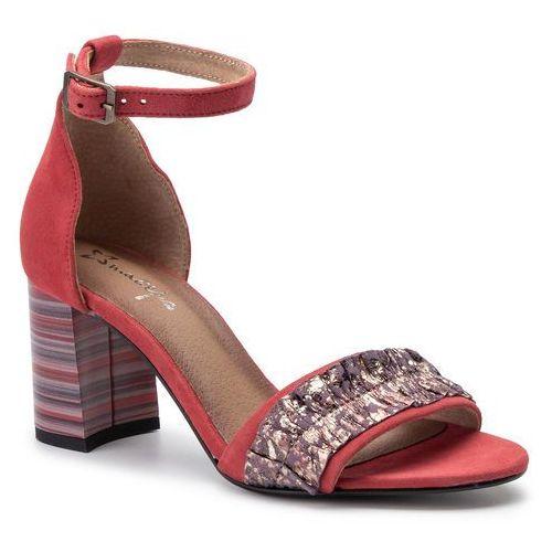 Sandały MACIEJKA - 04144-08/00-5 Czerwony, kolor czerwony