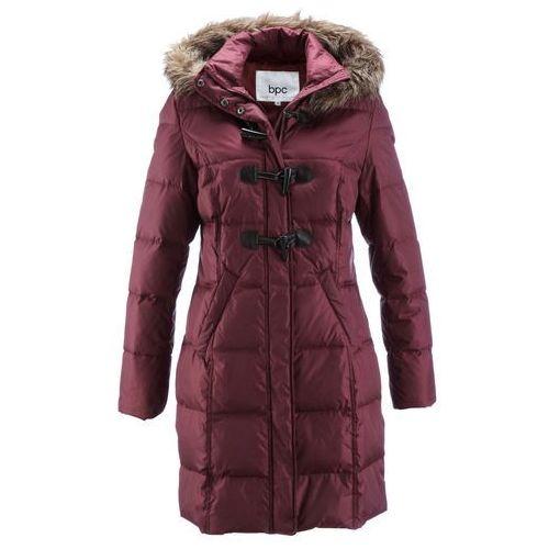 Płaszcz pikowany (lekki puch) czerwony klonowy marki Bonprix