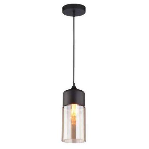 Lampa Wisząca Manhattan Chic No4 La054p Altavola Szklana Oprawa Zwis Tuba Bursztynowa Czarna Altavola Design