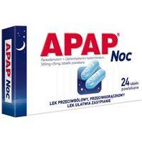 Tabletki Apap noc 0,5g+0,025g 24 tabl.
