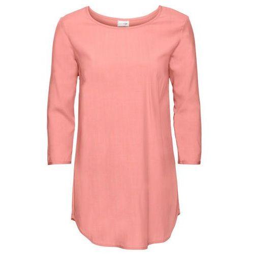Shirt bluzkowy, rękawy 3/4 bonprix łososiowo-jasnoróżowy, kolor wielokolorowy