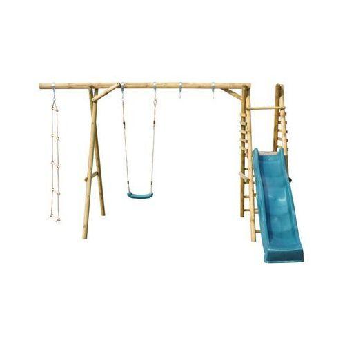 Huśtawka dla dzieci ze zjeżdżalnią KOALA 1 drewniana SOBEX (5908235352138)