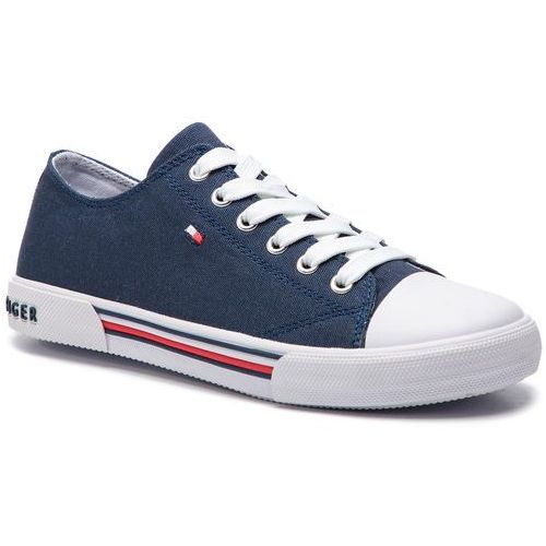 Tommy hilfiger Trampki - low cut lace-up sneaker t3x4-30278-0034 d blue 800