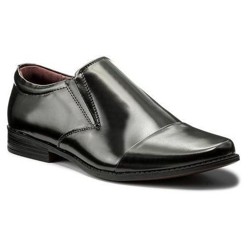 Półbuty OTTIMO - BYL6040-4 Czarny, kolor czarny
