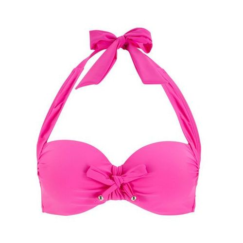 Biustonosz bikini z ramiączkami wiązanymi na szyi bonprix bez, poliamid