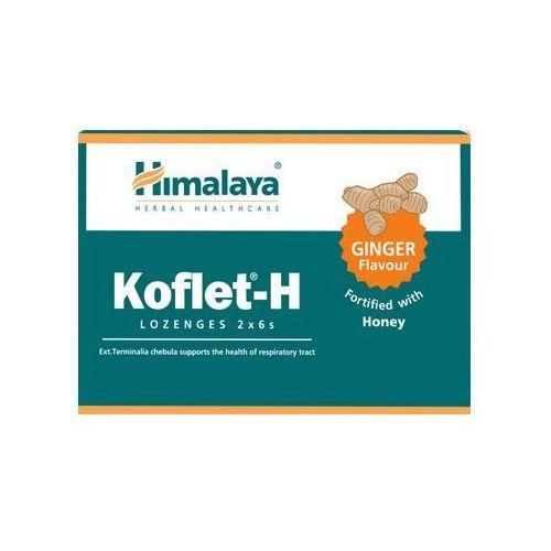 Himalaya Koflet-H pastylki na kaszel smak imbirowy 12 tabletek