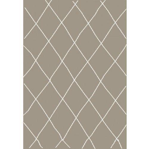 Dywan Shaggy Eco Komfort Mila 160x230 Beż Biały Romby Krata Myretail