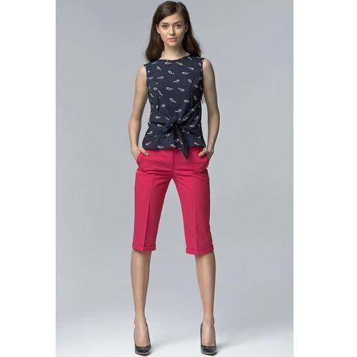 0f9aab40 Fuksja Eleganckie Spodnie do Kolan z Mankietem, NSD18pi (Nife)