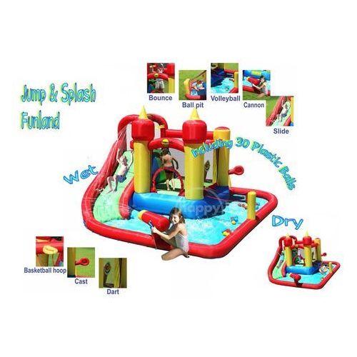 Happyhop Dmuchany basen ze zjeżdżalnią i armatką - funland -