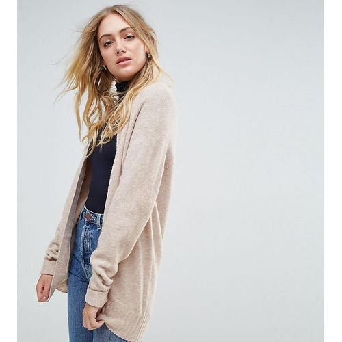 Chunky knit cardigan in wool mix - beige Asos tall