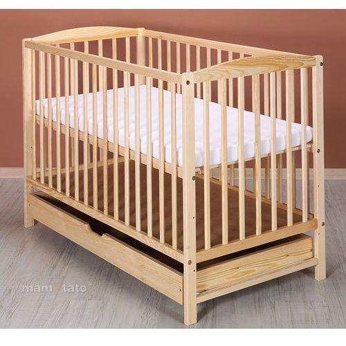 Mamo-tato łóżeczko dla niemowląt maja 60x120 cm z szufladą - sosna