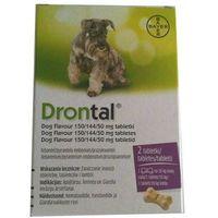 Bayer Drontal Plus Flavour dla psów 2tabl. - środek przeciwpasożytniczy (5909991214074)