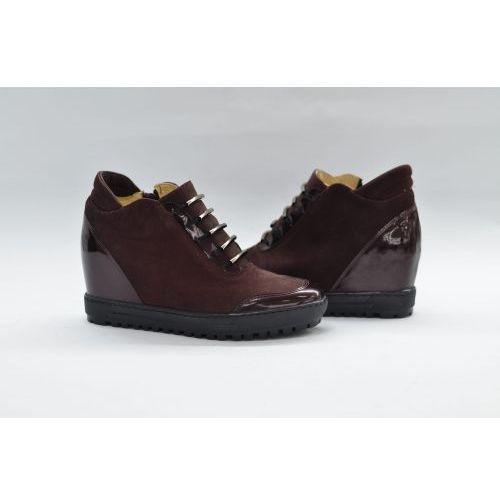 Sneakersy damskie bordowe, Eksbut