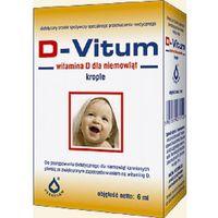 Krople D-Vitum witamina D dla niemowląt krople D3 400 j.m. 6ml Oleofarm