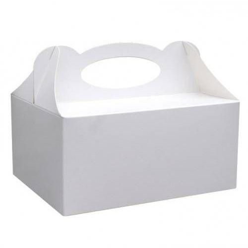 Ozdobne pudełko na ciasto białe - 1 szt.