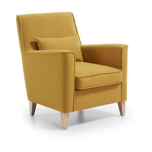 Fotel Arroy Musztardowy żółty 9design