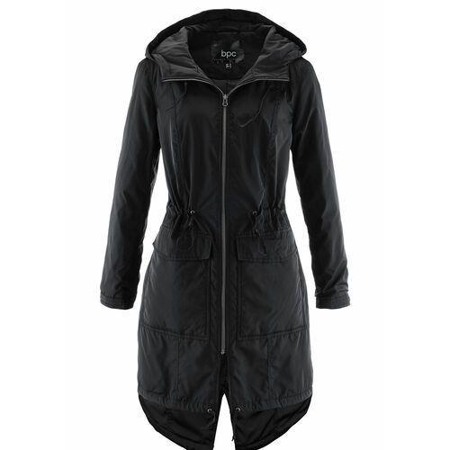 Lekko ocieplany płaszcz outdoorowy z tunelem bonprix czarny, w 9 rozmiarach