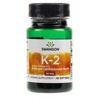 Kapsułki Swanson Ultra Witamina K2 MK7 50 mcg - 30 kapsułek