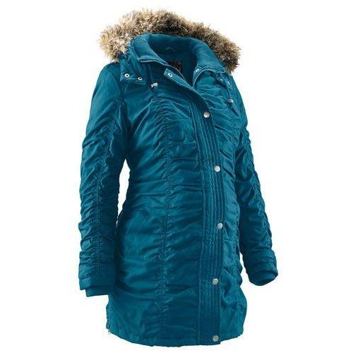 Zimowa kurtka ciążowa bonprix niebieskozielony morski, kolor niebieski