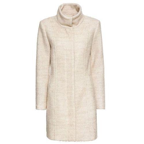Krótki płaszcz boucle jasny beżowy marki Bonprix