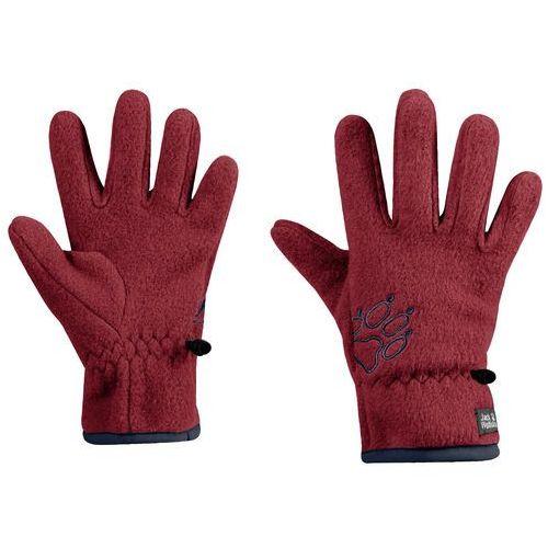Jack wolfskin Rękawice dla dzieci baksmalla fleece glove kids dark lacquer red - 140 (4060477317311)