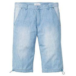 """Długie bermudy dżinsowe z letniego denimu regular fit niebieski """"bleached marki Bonprix"""