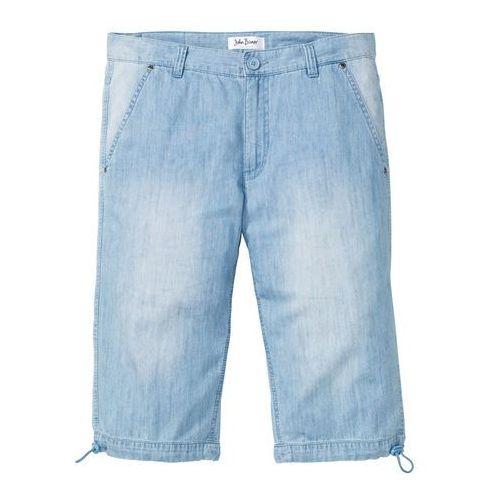"""Długie bermudy dżinsowe z letniego denimu regular fit niebieski """"bleached, Bonprix"""