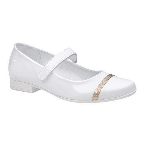 7d76aea5 Zobacz w sklepie Balerinki buty komunijne 6127 białe lakierki - biały  Kornecki