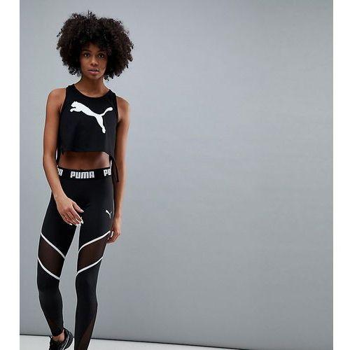 Exclusive to asos mesh panel legging in black - black Puma