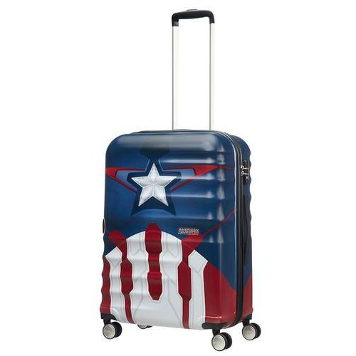Walizka średnia American Tourister Wavebreaker Marvel - Captain America Close-Up