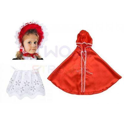 214ec9b1 przebrania dla dzieci stroj czerwony kapturek peleryna spodniczka ...