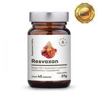 Tabletki AURA HERBALS Resvaxan 37g (ok. 45 tabl.) - likopen, resweratrol, kurkuma, astaksantyna, kadzidłowiec